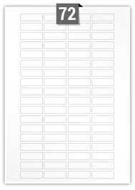 72 Rectangle Labels per A4 sheet