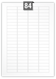 84 Rectangle Labels per A4 sheet