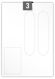 3 Irregular Labels per A4 sheet