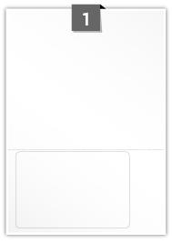 1 étiquette rectangulaires par feuille -  152 mm x 102 mm