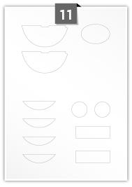 11 Irregular Labels per A4 sheet