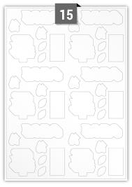 42 Irregular Labels per A4 sheet