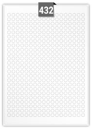 432 Circular Labels per A4 sheet