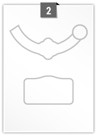 2 Irregular Label per A4 sheet