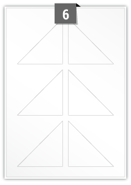 6 étiquettes  irrégulière par feuille -  80 mm x 80 mm