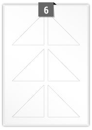 6 étiquettes irreguliere par feuille -  80 mm x 80 mm