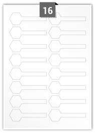 16 étiquettes irreguliere par feuille -  90.656 mm x 28.679 mm