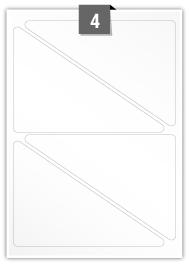 4 étiquettes triangle par feuille -  186 mm x 130 mm
