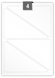 4 Triangle Labels per A4 sheet