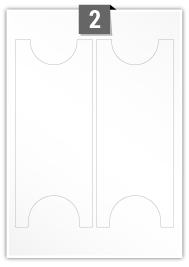 2 Irregular Label per A4 sheet
