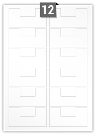 12 Irregular Labels per A4 sheet