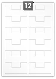 12 étiquettes irreguliere par feuille -  91 mm x 45 mm