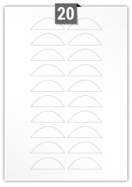 20 Irregular Labels per A4 sheet
