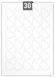 30 Irregular Labels per A4 sheet
