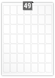 49 Irregular Labels per A4 sheet
