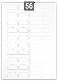 56 Irregular Labels per A4 sheet