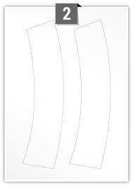 2 Irregular Labels per A4 sheet