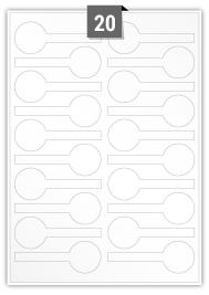 20 étiquettes  anti-violation par feuille -  95 mm x 35 mm