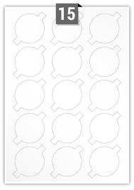 15 Irregular Labels per A4 sheet