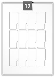 12 étiquettes irreguliere par feuille -  35 mm x 73 mm