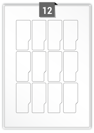 12 Irregular Labels per A4 sheet
