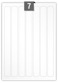 7 Rectangle Labels per A4 sheet