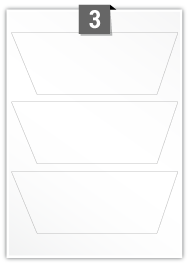 3 étiquettes rectangulaires par feuille -  205 mm x 75 mm