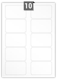 10 étiquettes rectangulaires par feuille - 85 mm x 54 mm