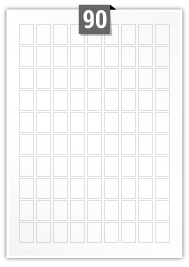 90 Rectangle Labels per A4 sheet