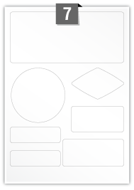 7 Irregular Labels per A4 sheet