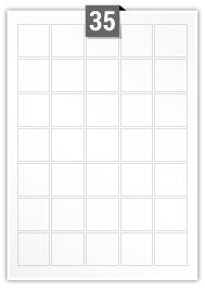 35 Square Labels per A4 sheet