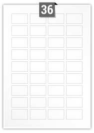 36 Rectangle Labels per A4 sheet