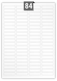 84 étiquettes rectangulaires par feuille -  46 mm x 11.1 mm