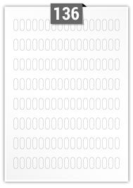136 étiquettes  rectangulaires par feuille -  6 mm x 20 mm