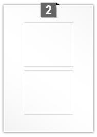 2 étiquettes rectangulaires par feuille -  112 mm x 100 mm