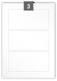 3 étiquettes rectangulaires par feuille -  160 mm x 80 mm