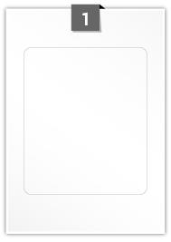 1 étiquette rectangulaires par feuille -  166 mm X 198 mm