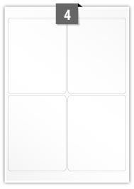 4 étiquettes rectangulaires par feuille -  100 mm x 130 mm