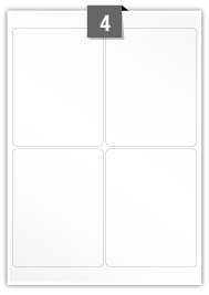 4 Rectangle Labels per A4 sheet