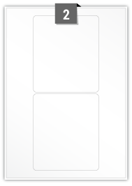 2 Rectangle Labels per A4 sheet