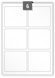 6 étiquettes rectangulaires par feuille -  95 mm x 85 mm