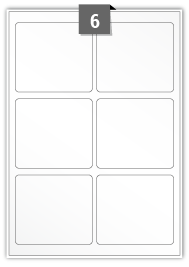 6 Rectangle Labels per A4 sheet