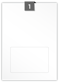 1 Rectangle Label per A4 sheet - 150 mm x 100 mm