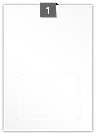 1 étiquette rectangulaires par feuille -  150 mm x 100 mm