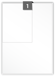 1 Rectangle Label per A4 sheet - 125 mm x 165 mm