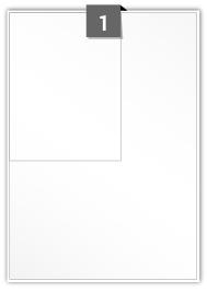 1 étiquette rectangulaires par feuille -  125 mm x 165 mm