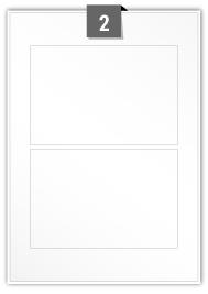 2 étiquettes rectangulaires par feuille -  165 mm x 110 mm