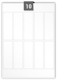 10 étiquettes  rectangulaires par feuille -  38 mm x 112 mm