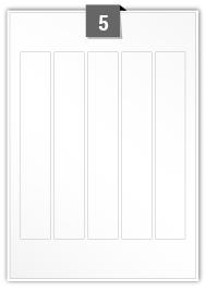 5 Rectangle Labels per A4 sheet