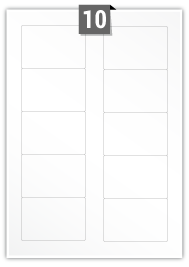 10 étiquettes rectangulaires par feuille -  83 mm x 53 mm